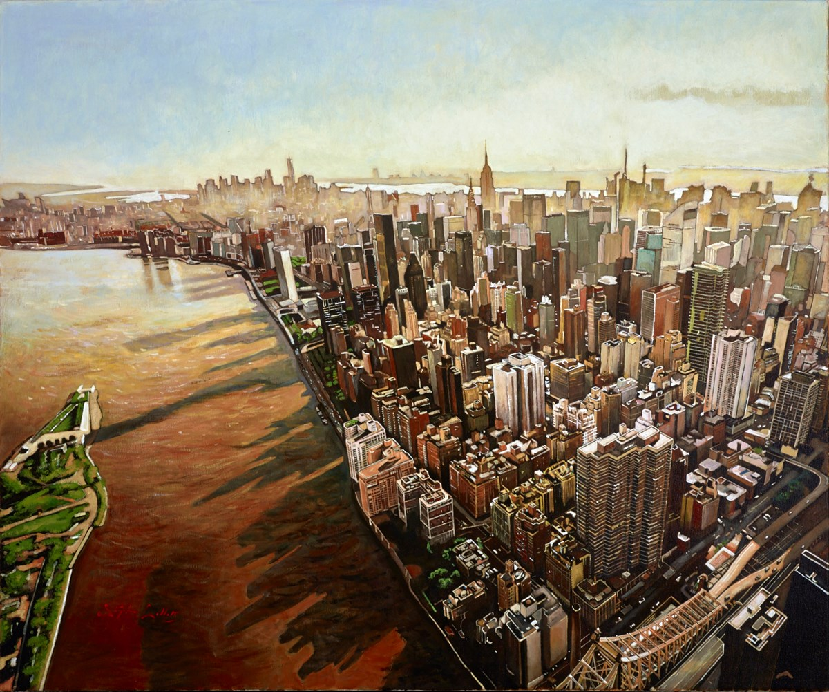 New York VI by stephen collett -  sized 47x39 inches. Available from Whitewall Galleries